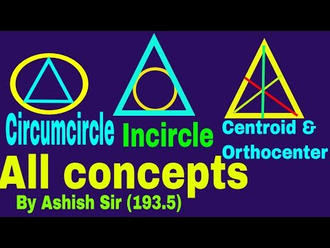 GEOMETRY CENTERS (CIRCUMCENTER,INCENTER,CENTROID,ORTHOCENTER ALL CONCEPTS IN 1 VIDEO FOR SSC II BANK