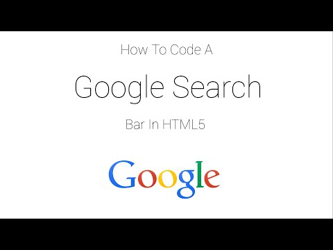 How to code a Google search bar in HTML5