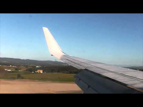 Ryan air hard landing Boeing 737-800 Barcelona (Girona)