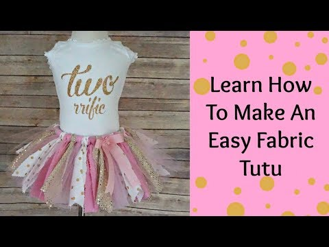 How To Make a fabric Tutu- NO SEW- Scraps Fabric Tutu-DIY TUTU
