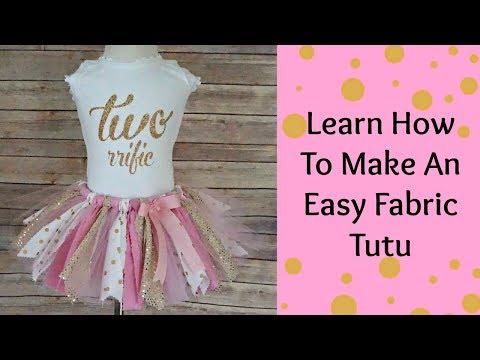 How To Make a fabric Tutu- NO SEW- Scraps Fabric Tutu-DIY TUTU