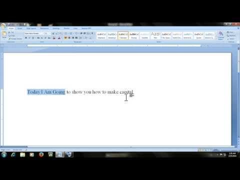 Microsoft word shortcut keys : How to make typed text matter in capital