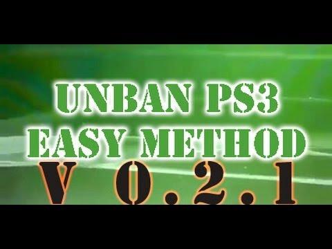 PS3 Easy Unban Method V 0.2.1 FIX