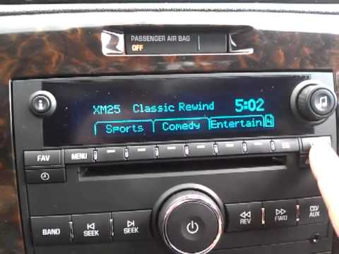 Chevy Impala   Radio, XM Categories