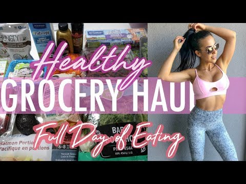 HEALTHY GROCERY HAUL + Full Day of Eating *Pescatarian (On A Cut)