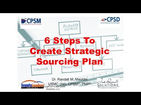 Six Steps To Create Strategic Sourcing Plan