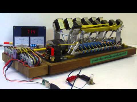 Solenoid Engine Generator Set || Free Energy Not Possible