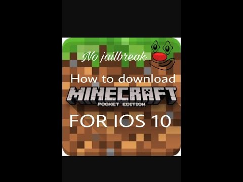 How to download minecraft pe for IOS 10 NO jailbreak NO computer