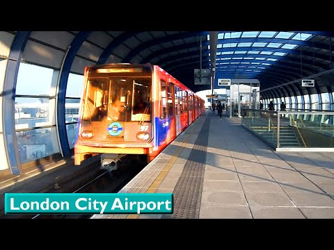 London City Airport : London DLR ( B90 - B2K - B07 - B92 Stock )