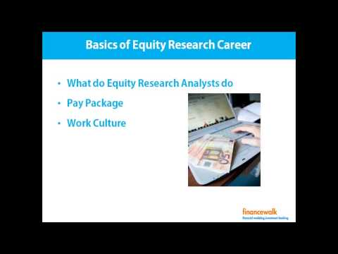 Basics of Equity Research Career, Pay, Salary