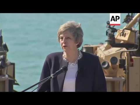 UK PM addresses navy from warship in Bahrain