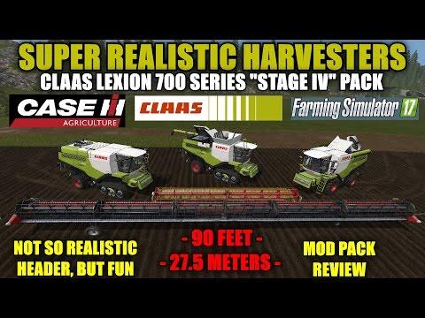 Farming Simulator 17 - Claas Lexion 700 Series & Case 90 Ft Draper