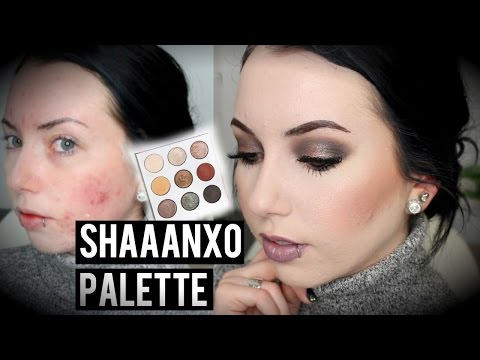 NEW Shaaanxo Palette! Cool-toned Eyeshadow Look & Full Face Acne Coverage