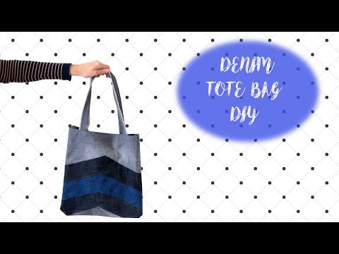 Denim Patchwork Tote Bag DIY | MVD