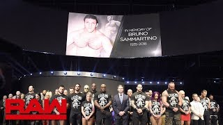 Bruno Sammartino is honored with a 10-bell salute: Raw, April 23, 2018