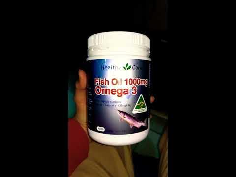 Fish oil 1000mg Omega 3 Healthy care Australia