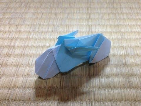 折り紙 バイク 自転車 折り方 作り方 motorbike
