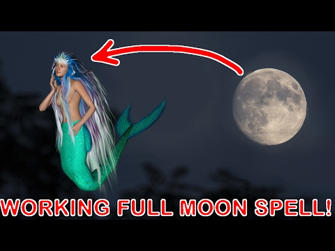 100% Legit working mermaid FULL MOON spell! HOW TO BECOME A MERMAID!