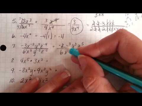 Exponent Rules quiz 1