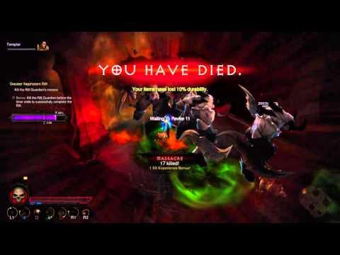 Diablo 3, PS4: GR81 LoN thorns crusader gameplay