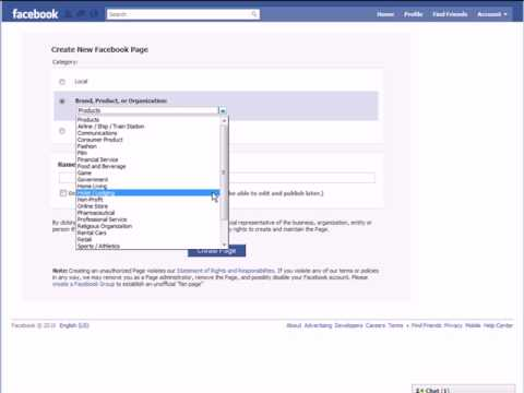 Creating A Facebook Page - Getting Started