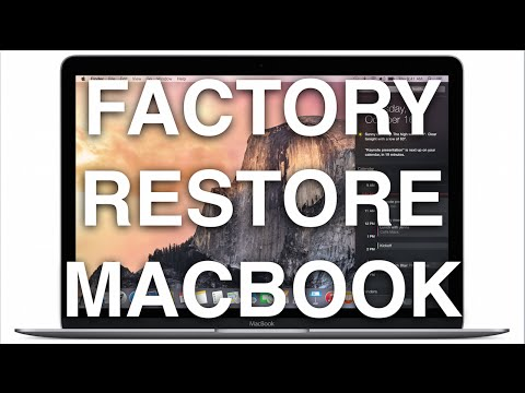 How Do I Restore My MacBook Air To Factory Settings