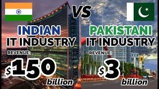 INDIAN IT INDUSTRY Vs PAKISTANI IT INDUSTRY | Facts & Figures | 2018 | Hindi Audio