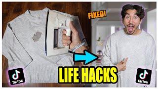We TESTED Viral TikTok Life Hacks.... (MIND BOGGLING) *PART 10*