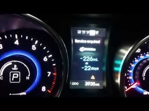 How To Reset Service Required Light   2014 Hyundai Santa Fe