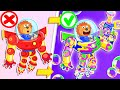 Lion Family 🤖 Iron Robot №8. Rainbow Bubbles | Cartoon for Kids