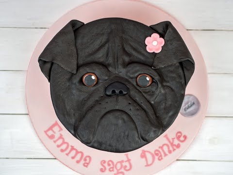 Mops Torte Anleitung / Pug Cake Tutorial