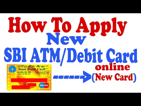 How To Apply new SBI ATM/Debit card online Without going Bank [Hindi]