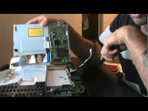 Open PS3 and remove stuck disc