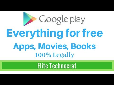 [English] Free - Get apps, games, movies, novels from google play store for free