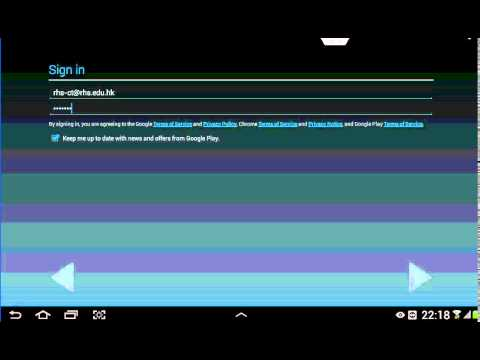 Add Gmail account in Android