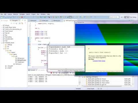 #1 Java Classical 3D Rendering Tutorial : Creating 3D World