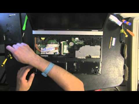 HP ProBook 6555b take apart video, disassemble, how to open disassembly