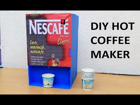 How TO Make Hot Coffee Machine at Home (Very Cheap)