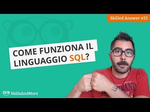 Come funziona il linguaggio SQL?