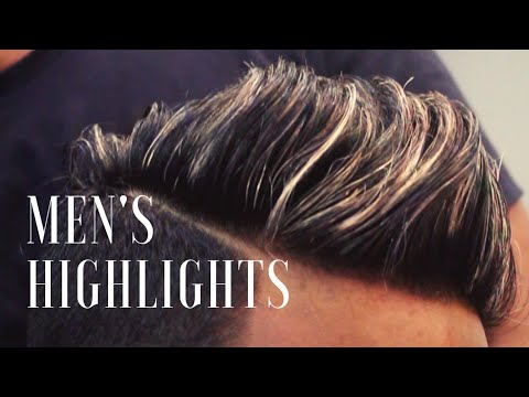MEN'S HIGHLIGHTS | BLONDE HIGHLIGHTS WITH LIGHT VIOLET ASH COLOUR | MEN