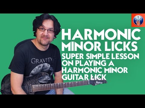 Learn To Play an Easy Harmonic Minor Lick on Guitar - Lead Guitar Lesson on Scales