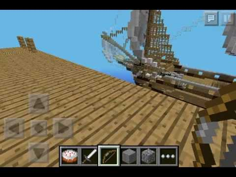 Huge Pirate Ship in Minecraft Pocket Edition