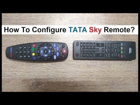 How to configure tata sky remote with tv remote