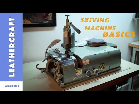 Leather skiving machine: Basic settings and sharpening (Nippy NP-202)