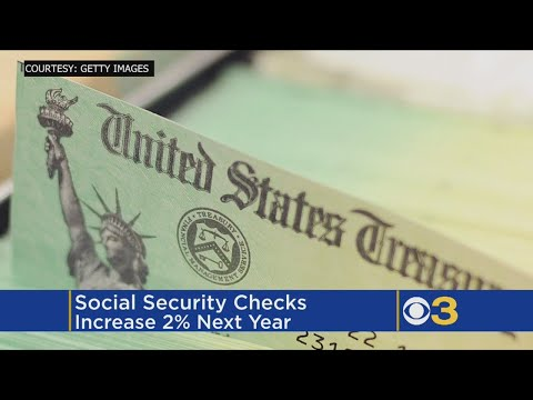 Social Security checks to get 2% bigger next year