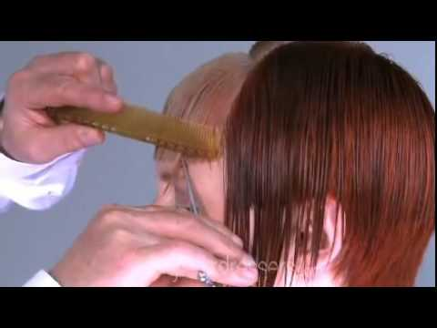 #3 How to cut a square bangs fringe style training Hair Cut Hairdressing