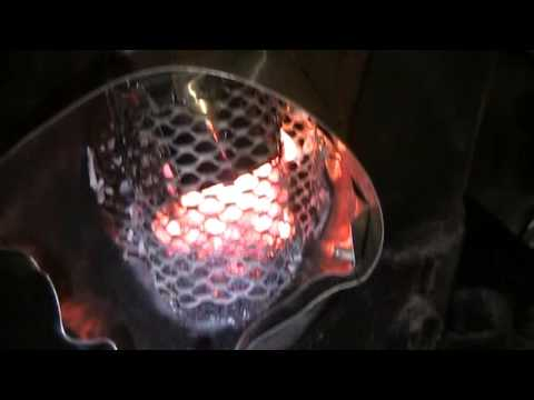 Shop Hack - Oil Burner Wood Stove Converted to Burn Pellets - Gravity Feed Prototype