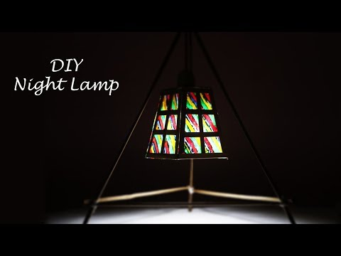How to make a Night Lamp | DIY Hanging Table Lamp