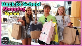 Back to School Shopping Spree!