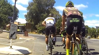 Climbing Willunga Hill with Peter Sagan and Durianrider (Power Overlay)